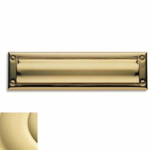 Baldwin 0014031 Letter Box Plate Unlacquered Brass Finish