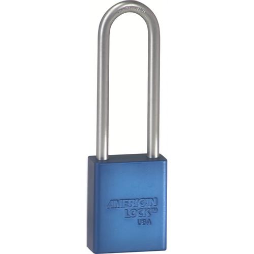 American Lock A1107KA37262 BLU Safety Padlock 3in Shackle Blue Ka
