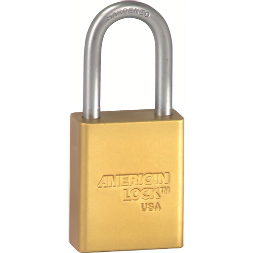 American Lock A1106KD YLW Safety Padlock 1-1/2in Shackle Yellow Kd