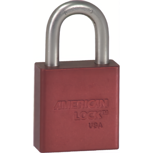 American Lock A1205KD RED Padlock 1-1/8in Shackle Red Alum Body