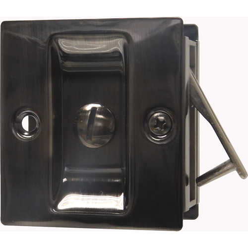 Trimco 1065.620 Privacy Pocket Door Lock Square Cutout for 1-3/8