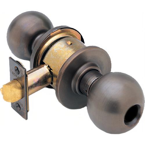 Schlage A53LDORB613-2-3/4 BS Grade 2 Entry Knob Orbit 2-3/4in Bs (11-096), Ansi Strike (10-025)