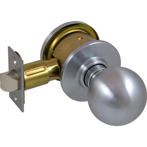 Schlage A25ORB626-2-3/4 BS Grade 2 Exit Knob Orbit 1.75in 2-3/4 Bs (11-096), Ansi Strike (10-025)