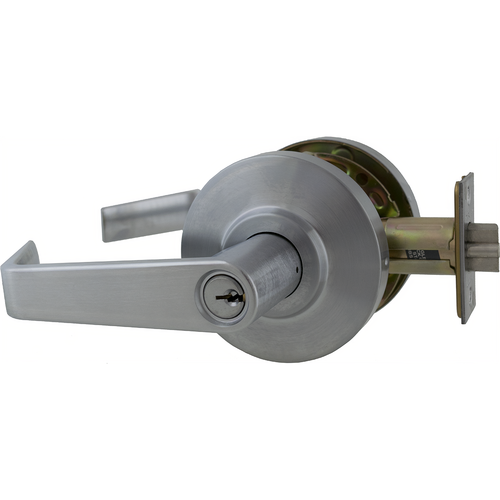 Dexter C2000-CLRM-R-626-KDC Classroom Grade 2 Regular Lever Non Clutching Cylindrical Lock with C Keyway; 2-3/4