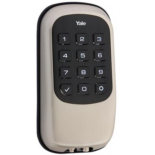 Yale YRD110 ZW 619 Keyless Push Button Deadbolt with Z-Wave Satin Nickel Finish