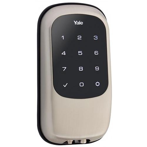 Yale YRD120 ZW 619 Keyless Touchscreen Deadbolt with Z-Wave Satin Nickel Finish