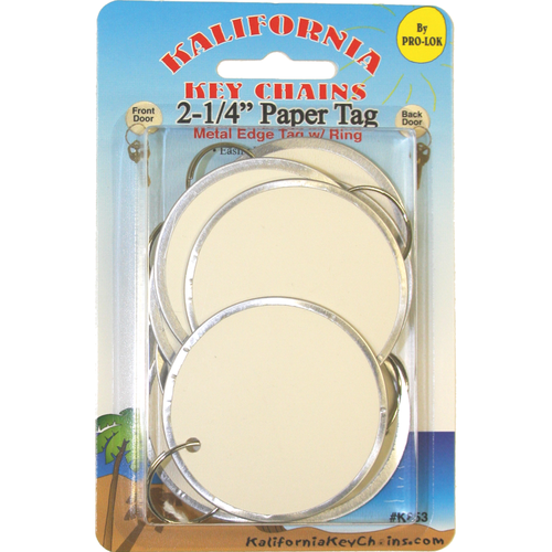 Pro-Lok K853 2-1/4in Paper Tag W/ring Card/10