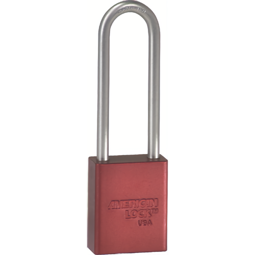 American Lock A1107KD RED Safety Padlock 3in Shackle Red Kd