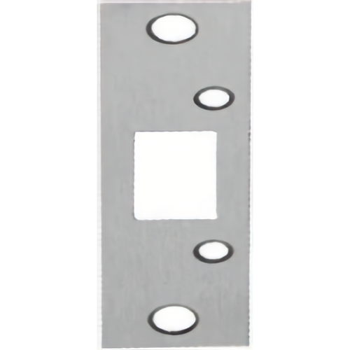 Don-Jo 2-SDS-SL Security Strike for Deadbolts Silver Coated Finish