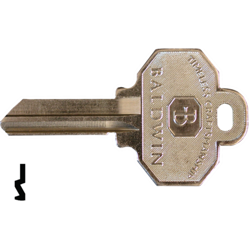 Baldwin 8335152 Key Blank 5-Pin C Keyway
