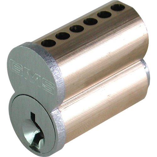 GMS IC7A26D 7 Pin Small Format Interchangeable Core with Best A Keyway Satin Chrome Finish
