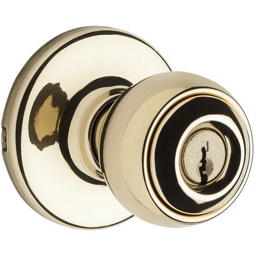 Weiser Lock GAC531Y3KS Yukon Entry Door Lock with Kwikset Smart Key with 6 Way Adjustable Latch and Round Corner Strike Bright Brass Finish