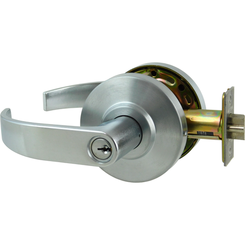 Dexter C2000-CLRM-C-626-KDC Classroom Grade 2 Curved Lever Non Clutching Cylindrical Lock with C Keyway; 2-3/4