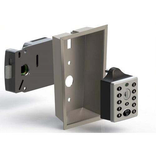 Lowe & Flecher 3790-01B Steel Locker Recessed Handle Black