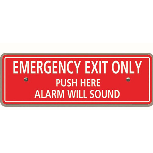 Detex ECL-8220 English Metal Exit Bar Sign