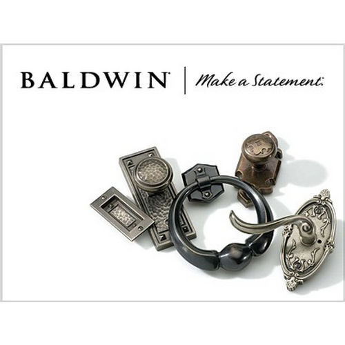 Baldwin SCNAPXCURLTSR049 Single Cylinder Napa Handleset Left Hand Curve Lever and Traditional Square Rose with 6AL Latch and Dual Strike Matte Bras...