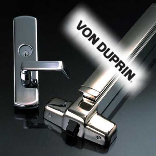 Von Duprin 99L26D3LH 3' Rim Grooved Case Exit Device with Left Hand Reverse 06 Lever Trim, Satin Chrome Finish