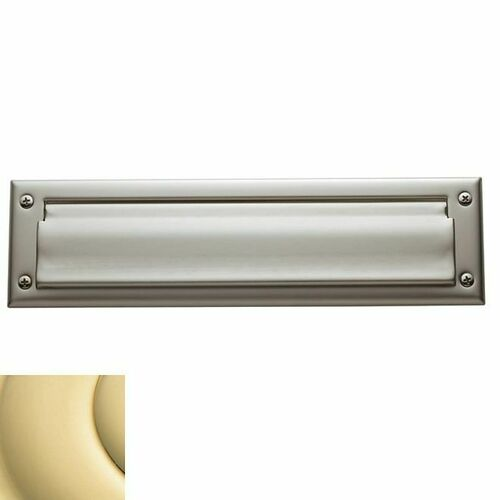 Baldwin 0012031 Letter Box Plate Unlacquered Brass Finish