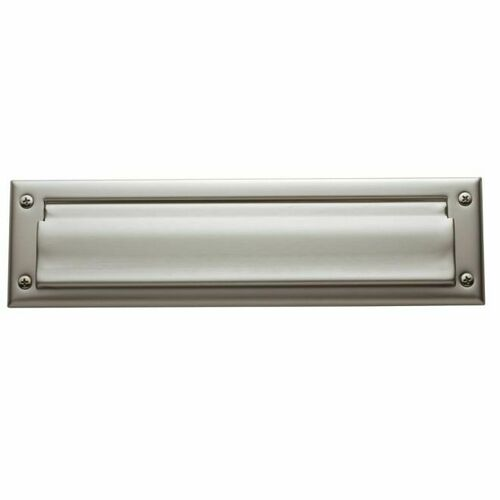 Baldwin 0012150 Letter Box Plate Satin Nickel Finish