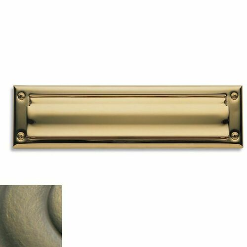 Baldwin 0014050 Letter Box Plate Antique Brass Finish