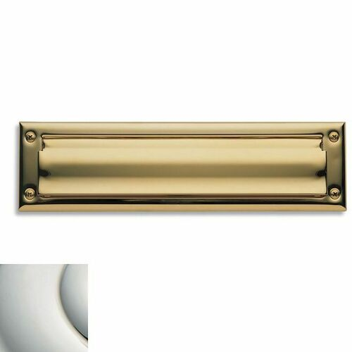 Baldwin 0014055 Letter Box Plate Lifetime Bright Nickel Finish