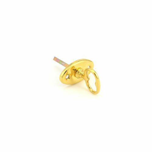 Baldwin 6728031 Oval Turn Piece Unlacquered Brass Finish