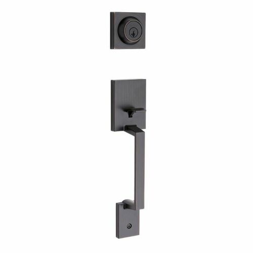 Kwikset 687AMDLIP-11PS Amador Single Cylinder Exterior Handleset with Smart Key with RCAL Latch and RCS Strike Venetian Bronze Finish