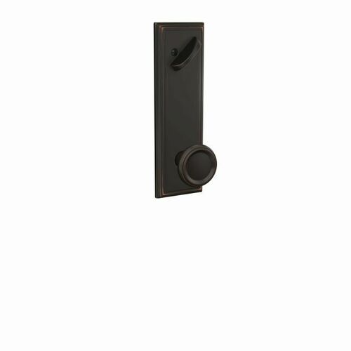 Schlage FCT59OFM716ADD Offerman Knob with Addison Escutcheon Interior Active Trim with 16680 Latch and 10269 Strike Aged Bronze Finish